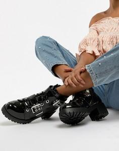 Черные ботинки на массивной подошве с люверсами RAID Daelyn - Черный