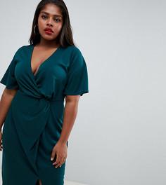 Платье миди Fashion Union plus - Зеленый