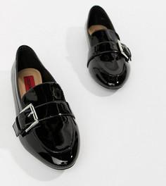 Туфли на плоской подошве с заостренным носом London Rebel - Черный