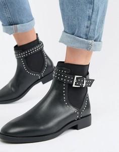 Ботинки челси с заклепками ASOS DESIGN Ascend - Черный