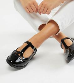 Туфли на плоской подошве для широкой стопы ASOS DESIGN Marky - Черный