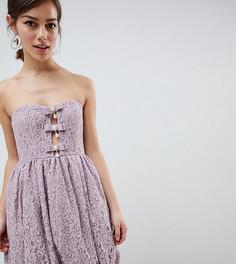 Кружевное платье мини эксклюзивно для ASOS DESIGN Petite - Мульти