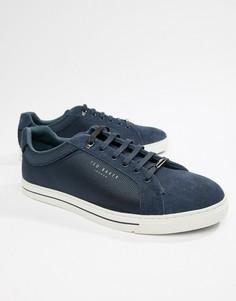 Темно-синие фактурные кроссовки Ted Baker Eeril - Синий