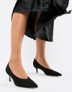 Туфли на каблуке-рюмочке с острым носком London Rebel - Черный