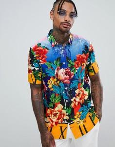 Рубашка классического кроя из вискозы с цветочным принтом ASOS DESIGN - Мульти