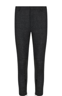 Укороченные шерстяные брюки прямого кроя Lanvin