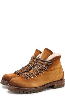 Замшевые ботинки с внутренней меховой отделкой Antonio Maurizi