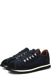 Замшевые кроссовки на шнуровке Doucals