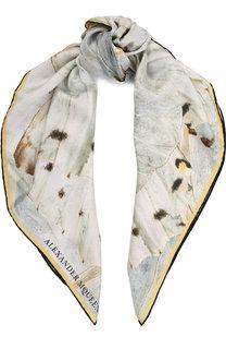 Шелковый платок с принтом Alexander McQueen
