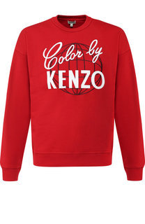 Хлопковый свитшот с вышивкой Kenzo