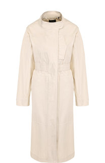 Хлопковое пальто с поясом и воротником-стойкой Isabel Marant