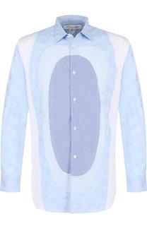 Хлопковая рубашка свободного кроя Comme des Garcons