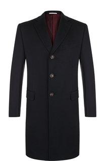 Однобортное пальто из смеси шерсти и кашемира Pal Zileri
