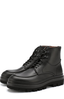 Кожаные ботинки на шнуровке Zegna Couture