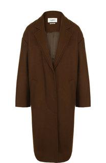 Однотонное пальто из смеси шерсти и кашемира Isabel Marant Etoile