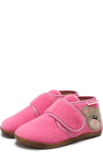 Текстильные домашние ботинки с застежкой велькро Naturino