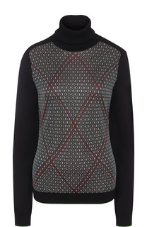 Пуловер с принтом и воротником-стойкой Lanvin
