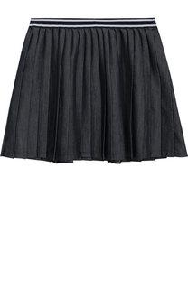 Плиссированная юбка из хлопка с эластичным поясом Polo Ralph Lauren