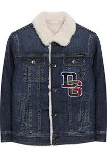Джинсовая куртка с отделкой Dolce & Gabbana