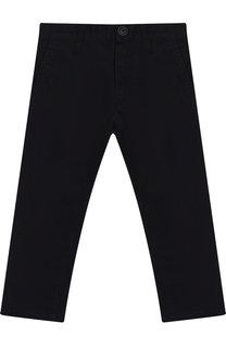 Хлопковые брюки прямого кроя Emporio Armani