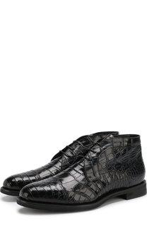 Ботинки из кожи аллигатора с внутренней меховой отделкой Barrett
