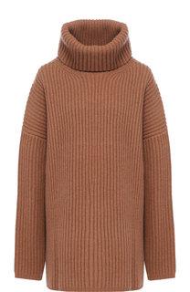Шерстяной пуловер свободного кроя с высоким воротником Acne Studios
