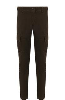 Хлопковые брюки-карго прямого кроя C.P. Company