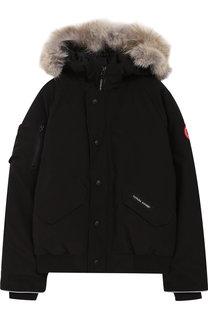Пуховая куртка Rundle с меховой отделкой на капюшоне Canada Goose