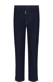 Хлопковые брюки прямого кроя с контрастной прострочкой Dsquared2