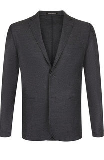 Однобортный пиджак из шерсти Emporio Armani