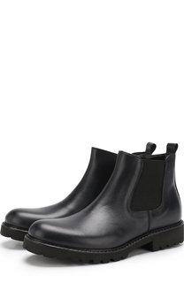 Кожаные ботинки с эластичной вставкой Lanvin