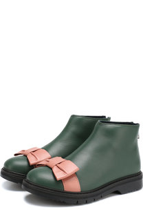 Кожаные ботинки с бантом Marni
