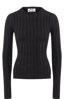 Шерстяной пуловер с разрезами по бокам Acne Studios
