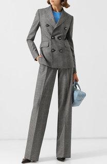 Шерстяной костюм с двубортным жакетом Dsquared2