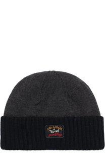 Шерстяная шапка с логотипом бренда Paul&Shark