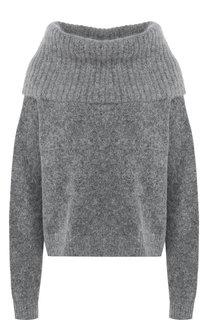 Вязаный пуловер с объемным воротником Acne Studios