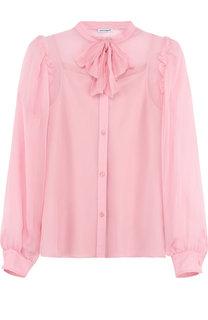 Шелковая блуза с воротником аскот Dolce & Gabbana