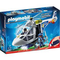 """Конструктор Playmobil """"Полиция"""" Полицейский вертолет с LED прожектором"""