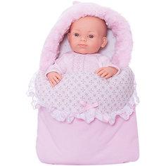 """Кукла Paola Reina """"Бэби"""" в теплом розовом конверте, 32 см"""