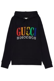 Худи с контрастным логотипом Gucci