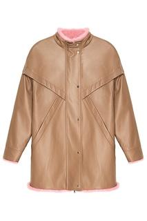 Кожаная куртка с меховой отделкой Alena Akhmadullina