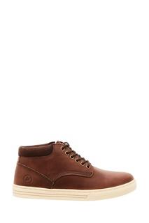 Коричневые ботинки на шнуровке Affex
