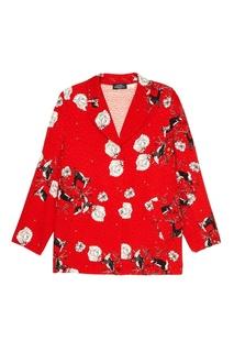 Красный жакет с цветочным принтом Alena Akhmadullina
