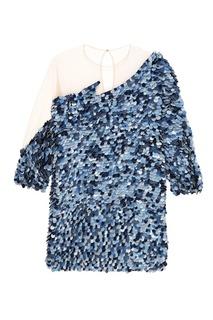 Асимметричное мини-платье с отделкой Alena Akhmadullina