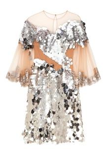 Платье с серебристыми пайетками Alena Akhmadullina
