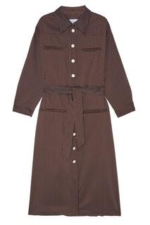 Платье-миди с принтом в горох Kuraga