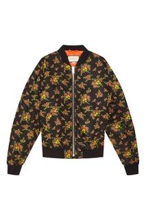 Укороченная куртка на молнии Gucci