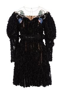 Платье с бархатной отделкой Alena Akhmadullina