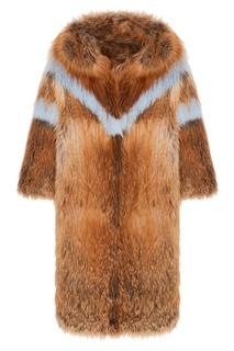 Пальто из меха лисы Alena Akhmadullina