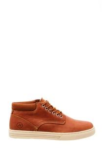 Коричневые кожаные ботинки с подкладкой Affex